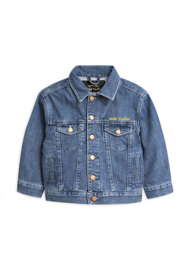 Mini Rodini Seamonster denim jacket Blue