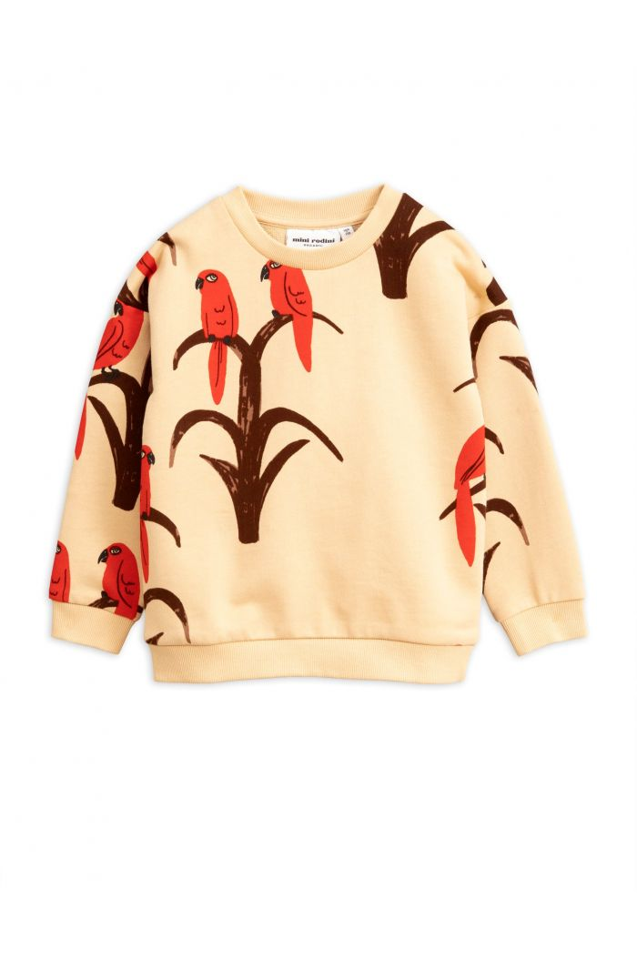 Mini Rodini Parrot all over print sweatshirt Red