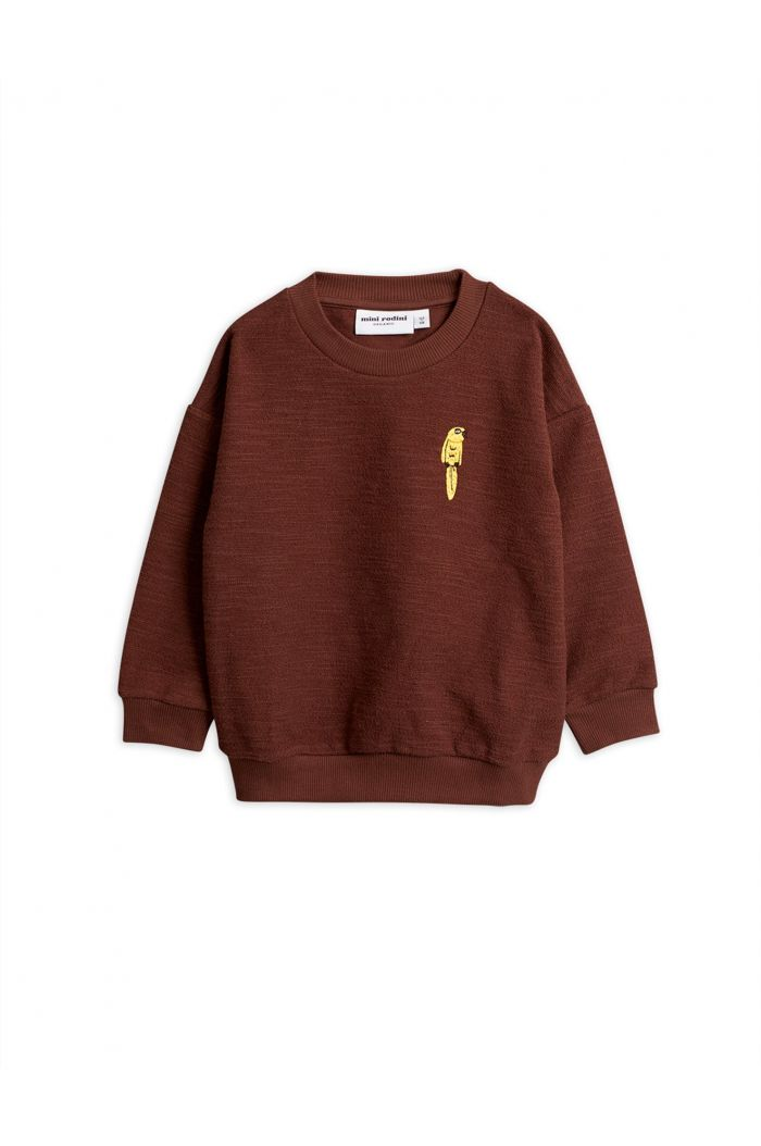 Mini Rodini Parrot embroidery sweatshirt Brown