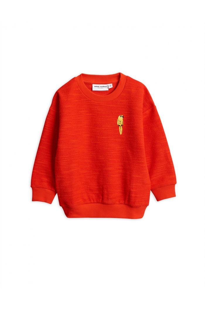 Mini Rodini Parrot embroidery sweatshirt Red