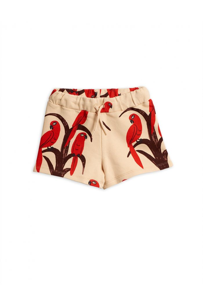 Mini Rodini Parrot all over print shorts Red