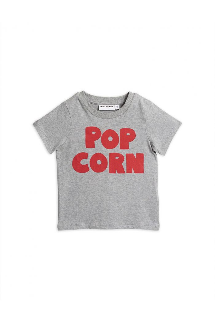 Mini Rodini Pop corn short sleeve tee Grey melange