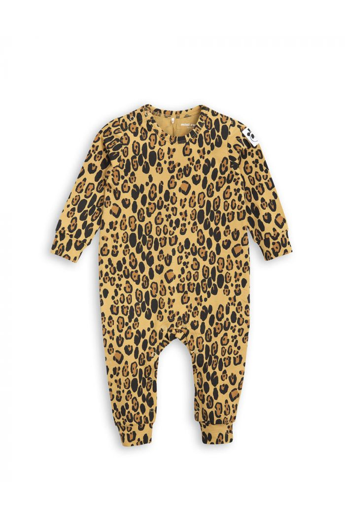 Mini Rodini Basic leopard jumpsuit Beige
