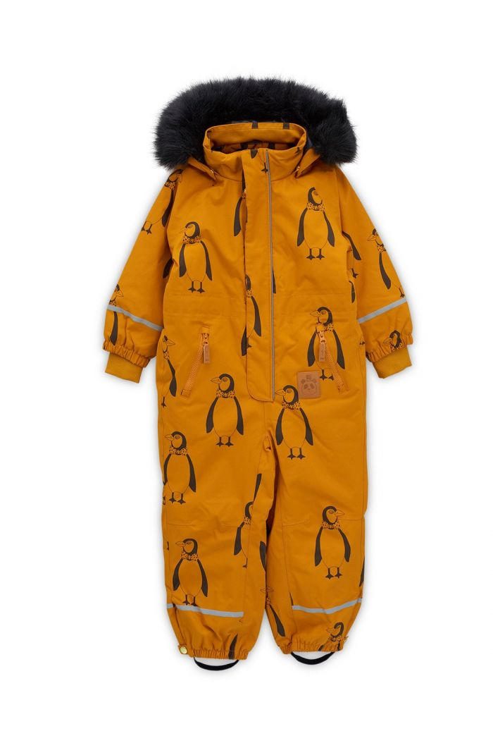 Mini Rodini Kebnekaise penguin overall Brown
