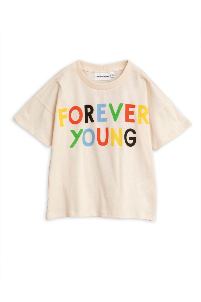Mini Rodini Forever young single print tee Offwhite
