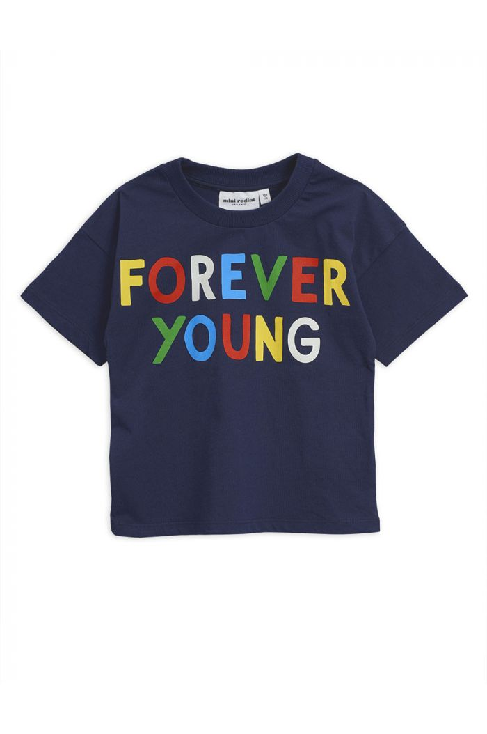 Mini Rodini Forever young single print tee Navy