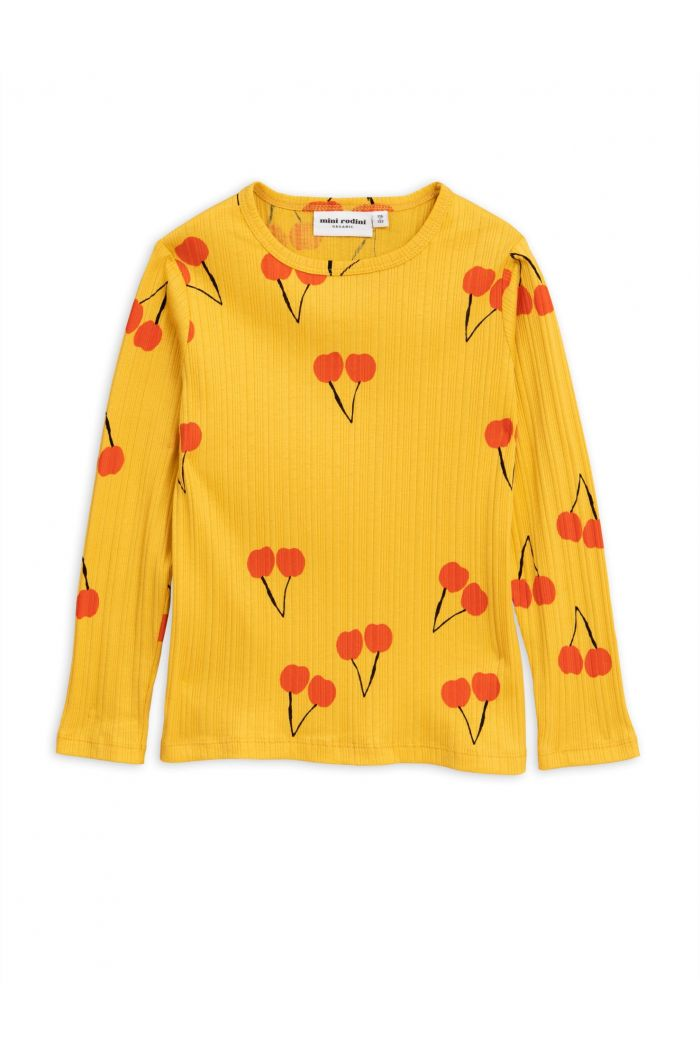 Mini Rodini Cherry longsleeve tee Yellow