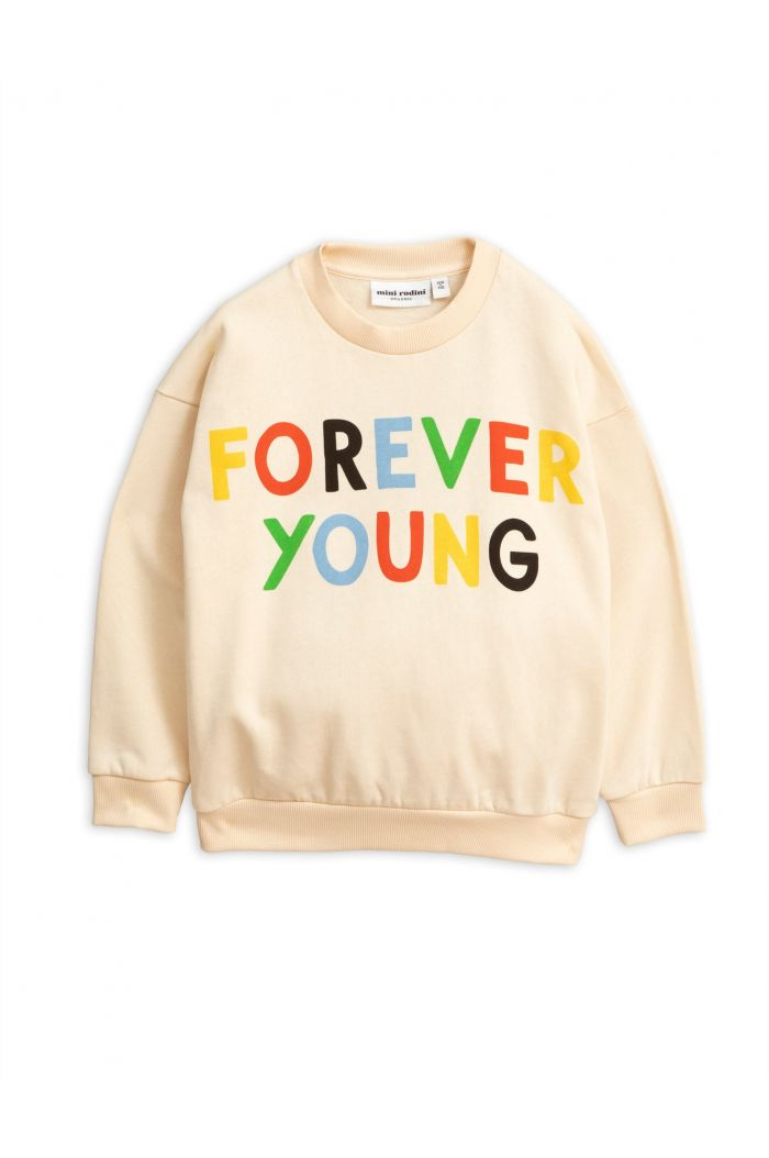Mini Rodini Forever young single print sweatshirt Offwhite