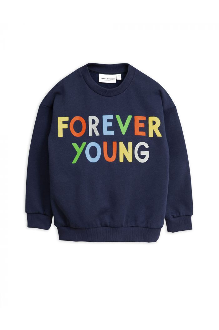 Mini Rodini Forever young single print sweatshirt Navy