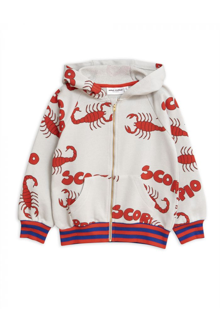 Mini Rodini Scorpio all-over print zip hoodie Grey