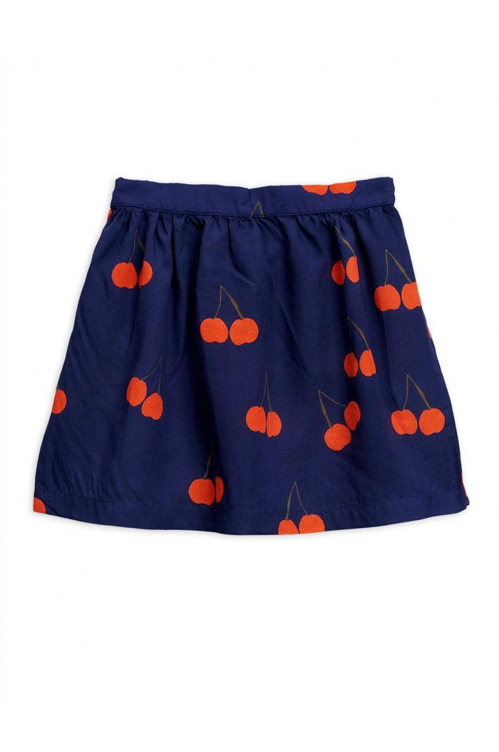 Mini Rodini Cherry woven skirt Blue