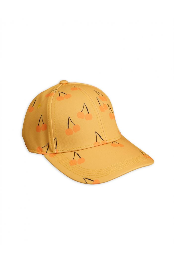 Mini Rodini Cherry printed cap Yellow