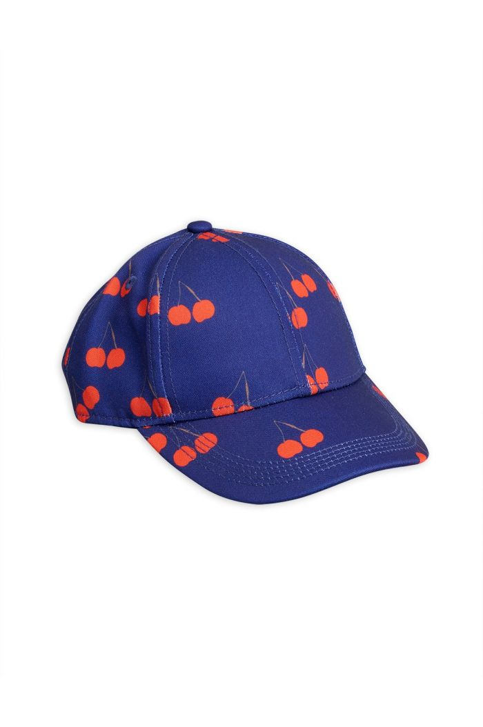Mini Rodini Cherry printed cap Blue
