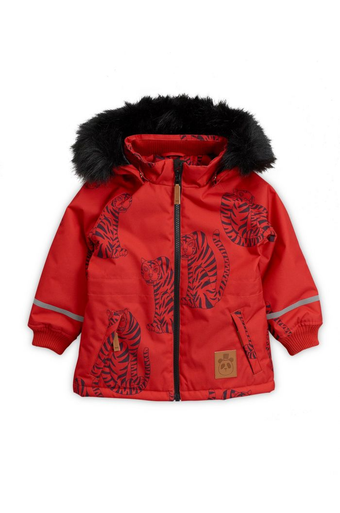 Mini Rodini K2 Tiger Parka Red