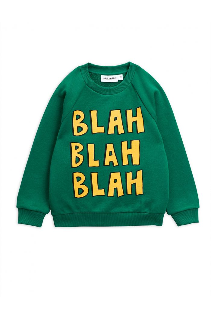 Mini Rodini Blah single print sweatshirt Green