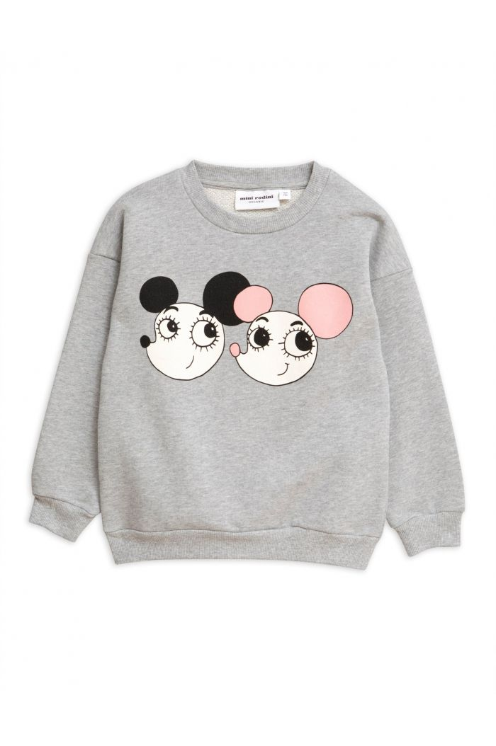 Mini Rodini Ritzratz single print sweatshirt Grey melange