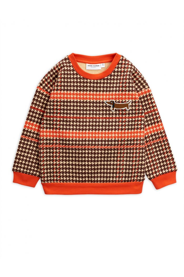 Mini Rodini Houndstooth sweatshirt Red