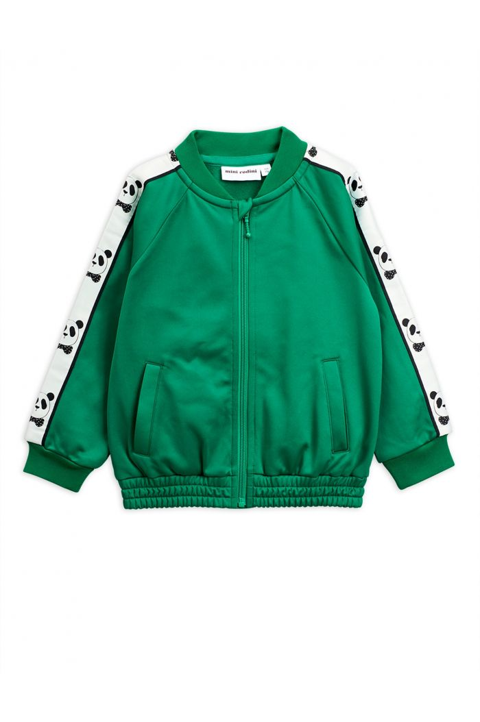 Mini Rodini Panda track jacket Green