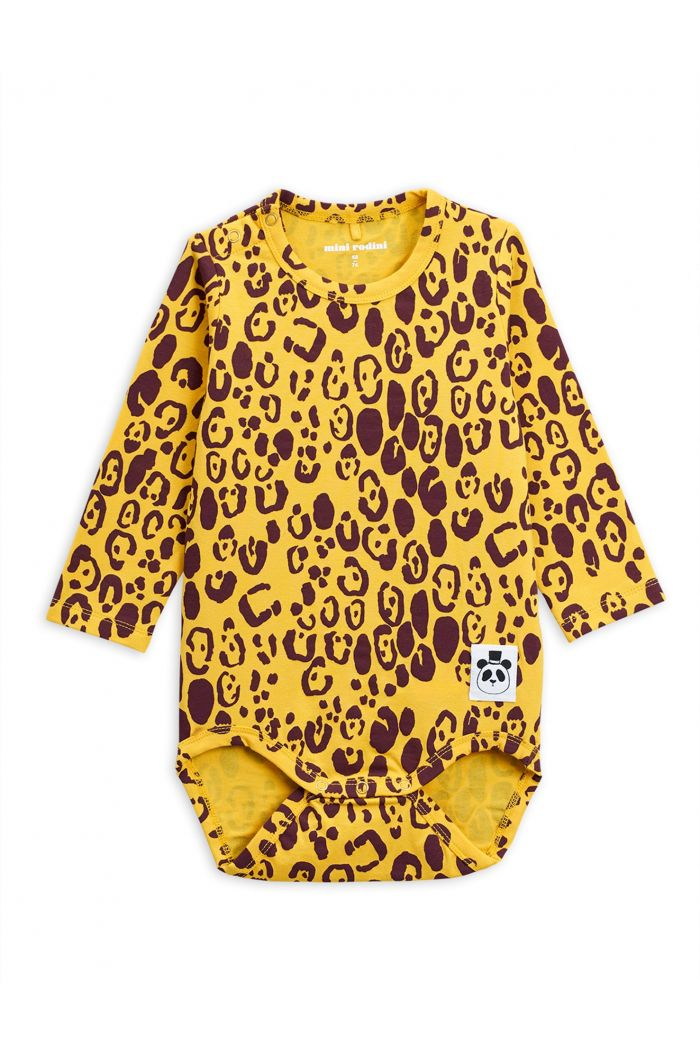 Mini Rodini Leopard longsleeve body Yellow