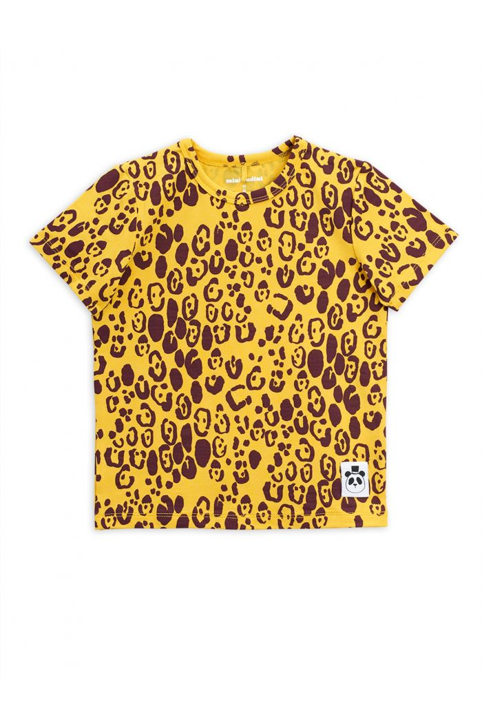 Mini Rodini Leopard shortsleeve tee Yellow