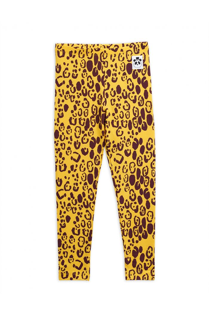 Mini Rodini Leopard leggings Yellow