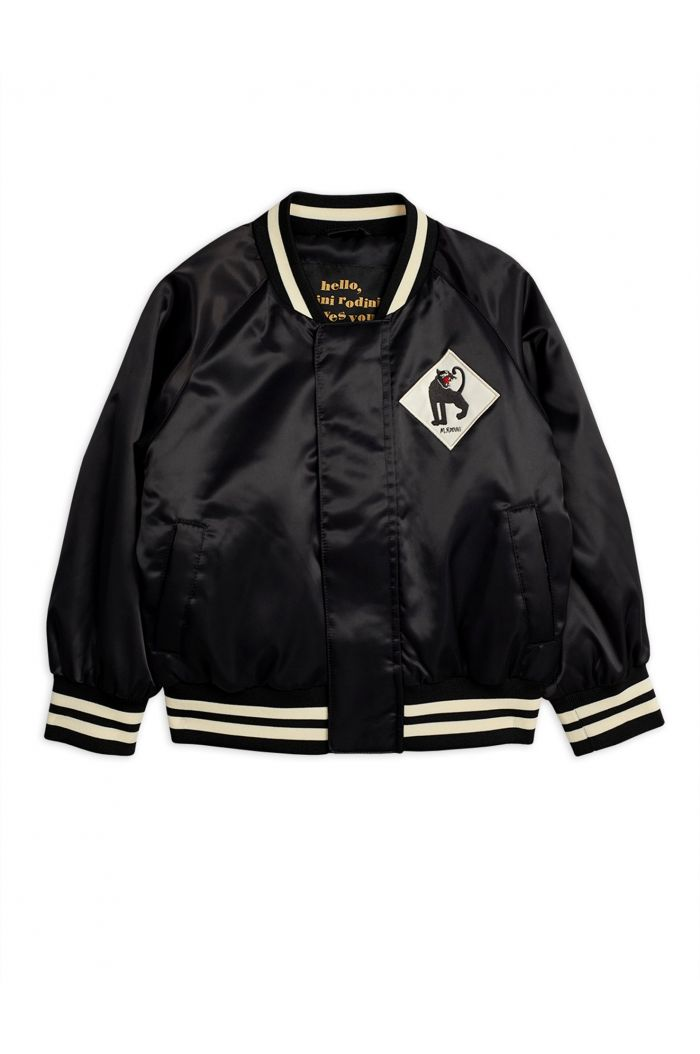 Mini Rodini Panther baseball jacket Black