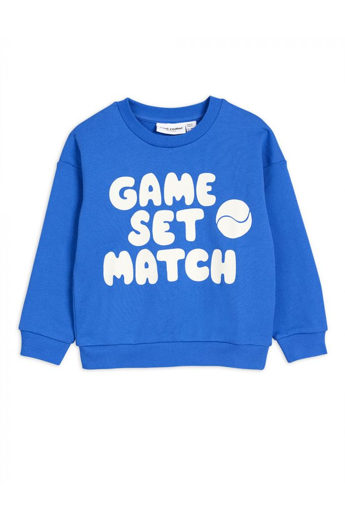 Mini Rodini Game single print sweatshirt Blue
