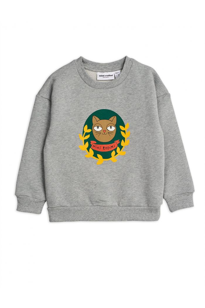 Mini Rodini Badge single print sweatshirt Grey melange