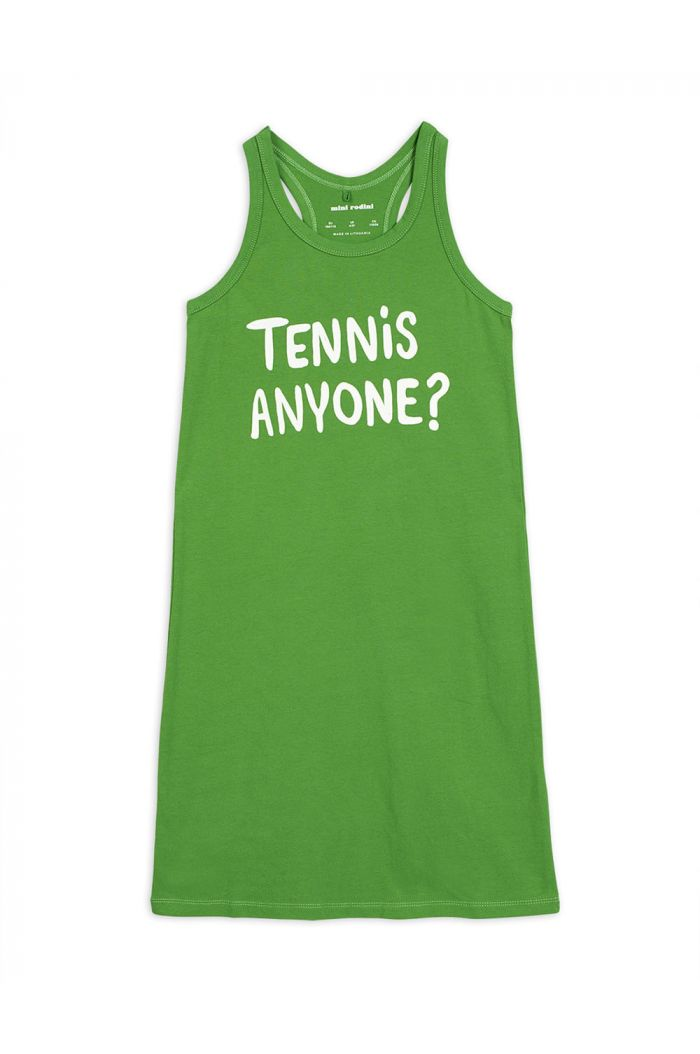 Mini Rodini Tennis anyone single print tank dress Green