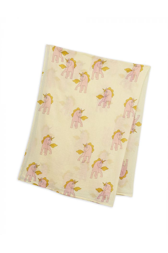 Mini Rodini Unicorns woven sarong Yellow