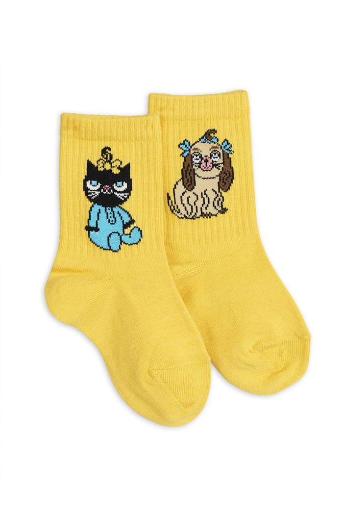 Mini Rodini Minibaby socks yellow single Yellow