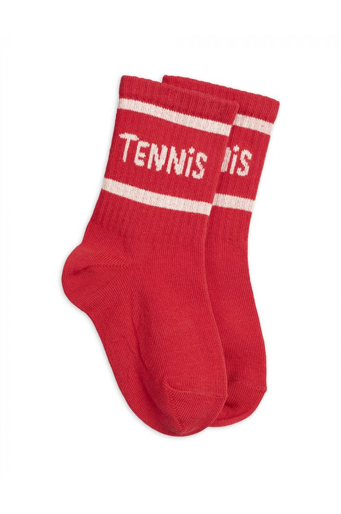 Mini Rodini Tennis socks single Red