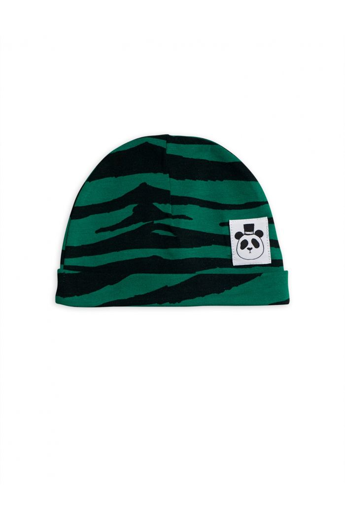 Mini Rodini Tiger baby beanie Green