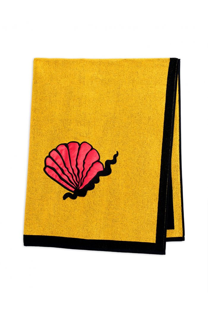 Mini Rodini Shell beach towel Yellow