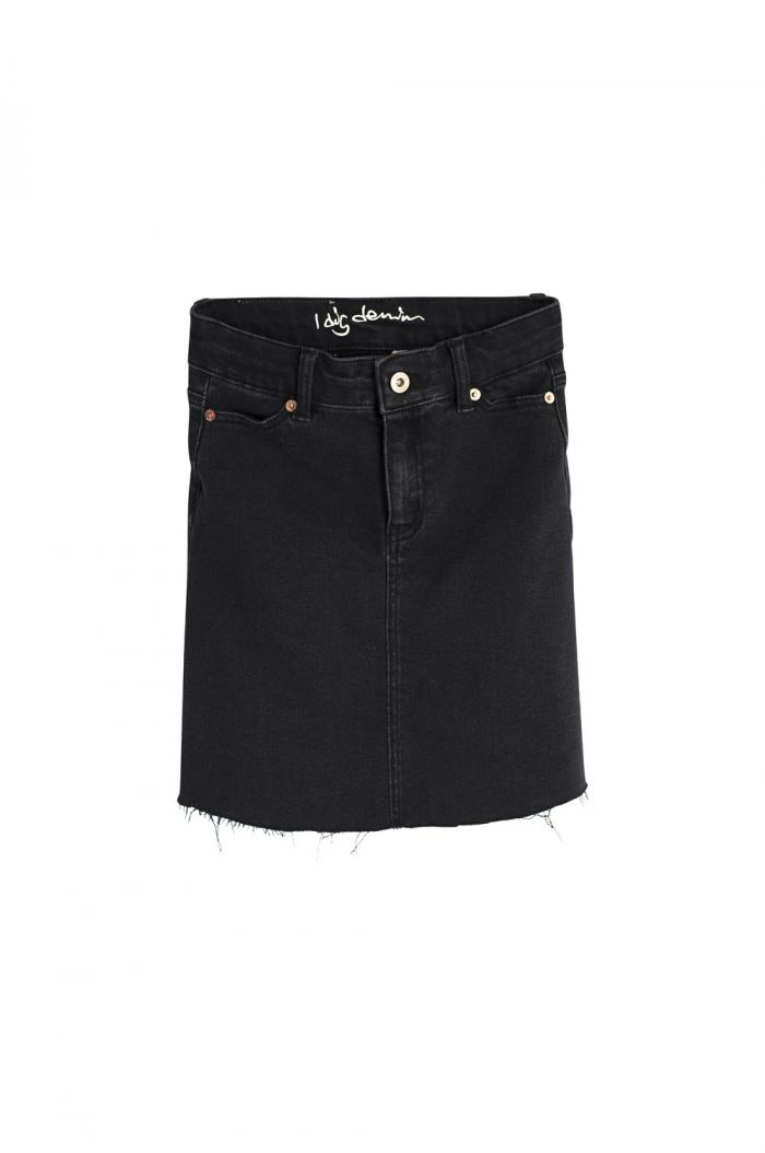 I Dig Denim Bree Denim Skirt black