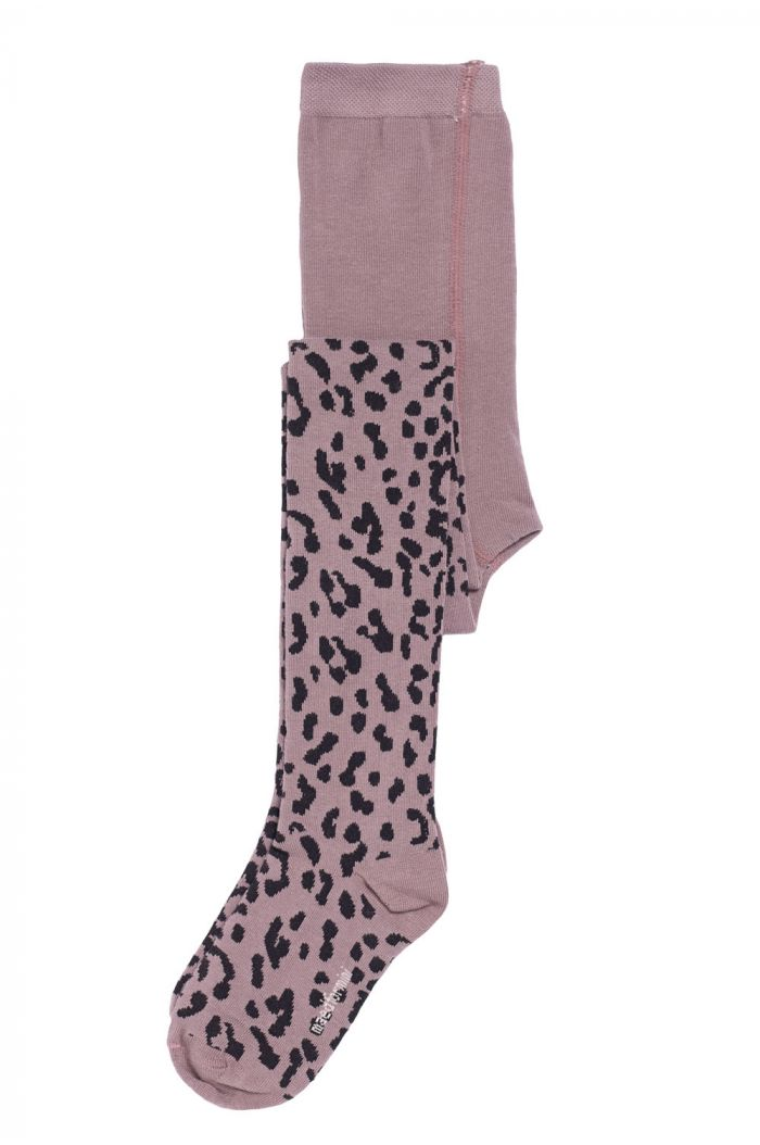 Maed for Mini Tights Lilac Leopard