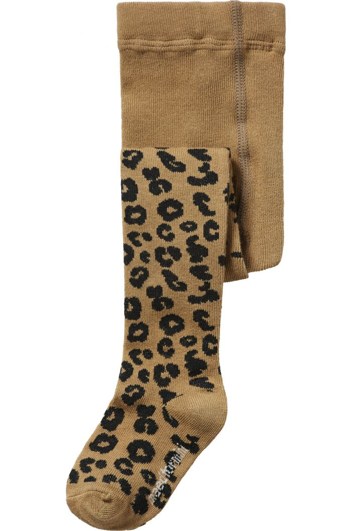 Maed for Mini Tights Brown Leopard