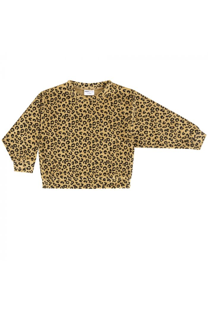 Maed for Mini Sweater Yellow Leopard