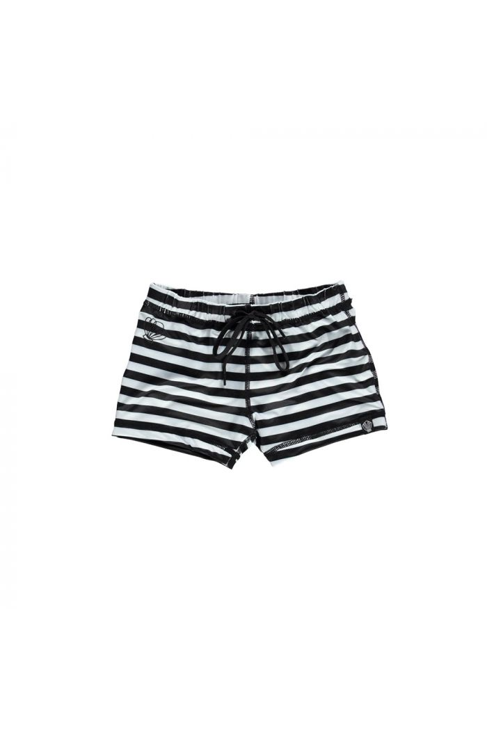 Beach & Bandits Bandit Swimshort Black/White