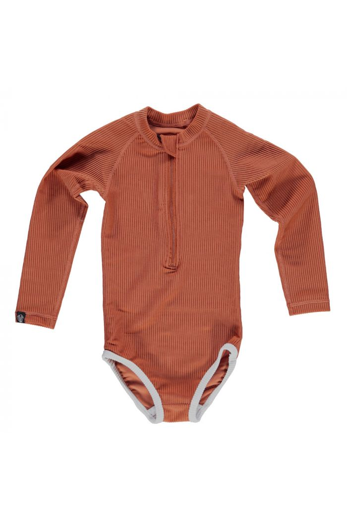 Beach & Bandits Earth Ribbed suit Rust Red