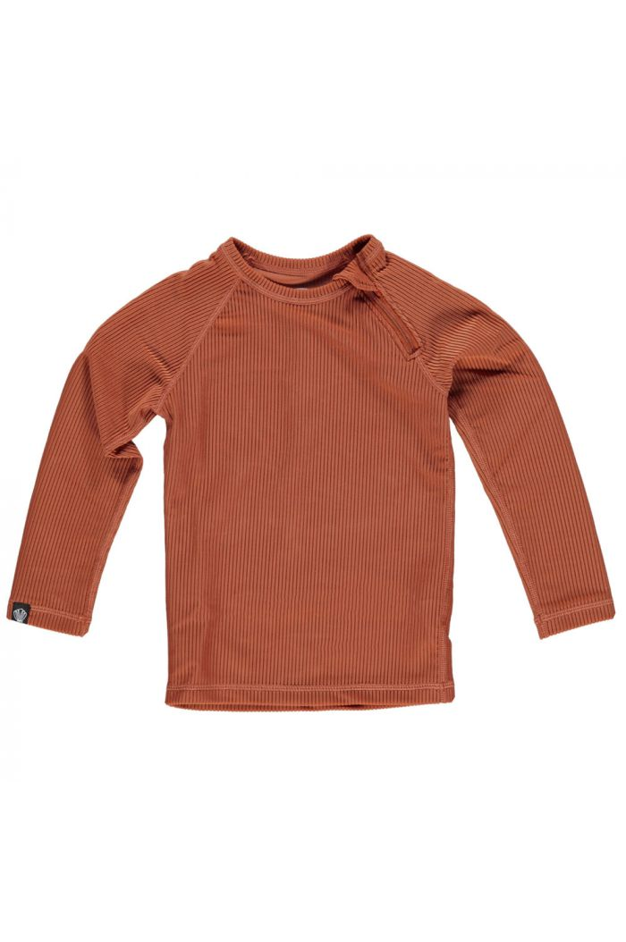 Beach & Bandits Earth Ribbed Longsleeve Rust Red