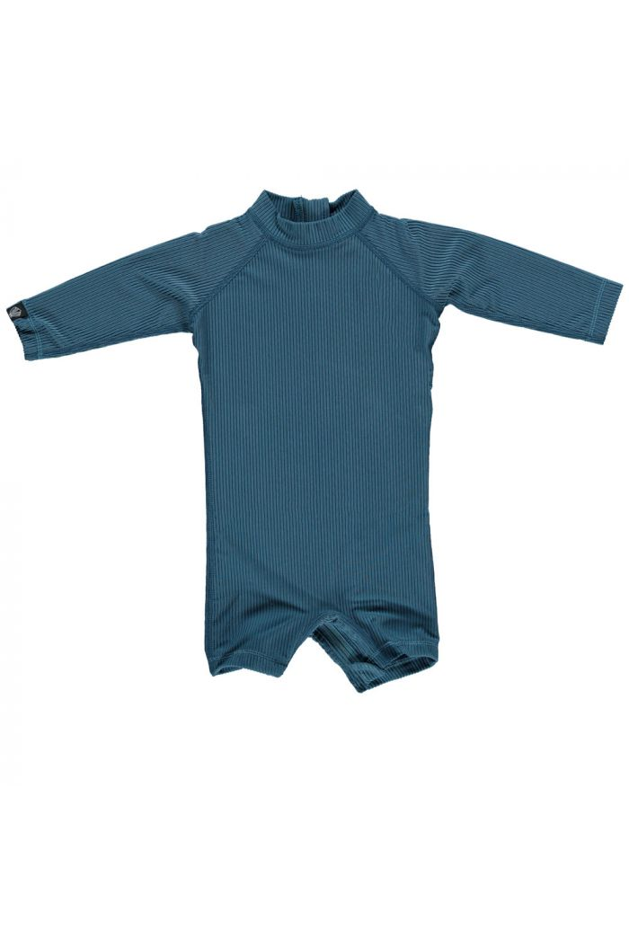Beach & Bandits Ocean Ribbed Baby suit Hydro Blue
