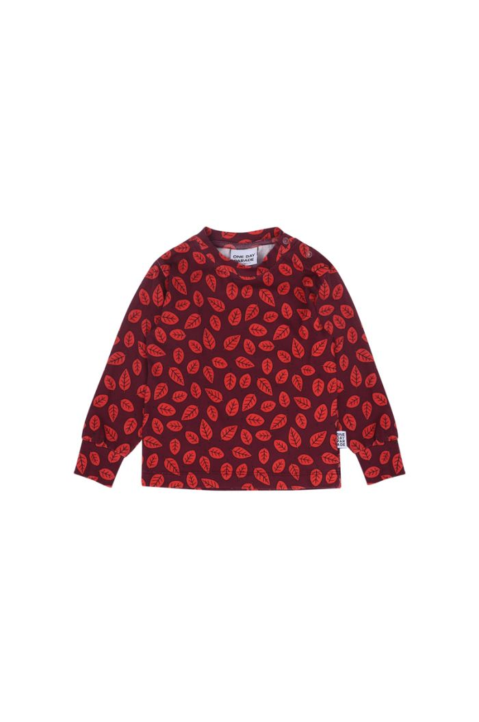 One Day Parade Longsleeve Leaves burgundy