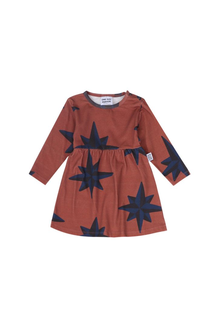 One Day Parade Dress Blue Compass brown