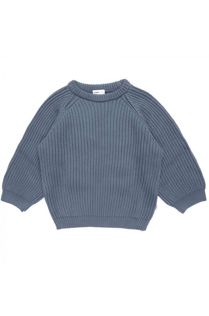 Maed for Mini Knit Sweater Petrol Parrot