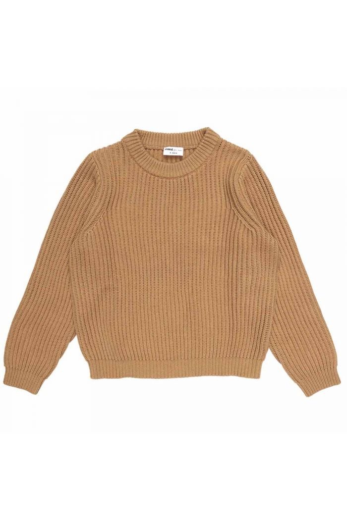 Maed for Mini Knit Sweater Caramel Capybara
