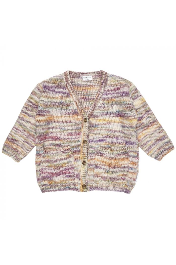 Maed for Mini Knit Cardigan Rainbow Raccoon