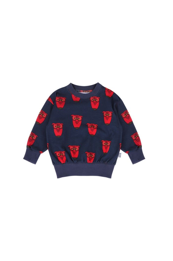 One Day Parade Sweater Owl midnight blue