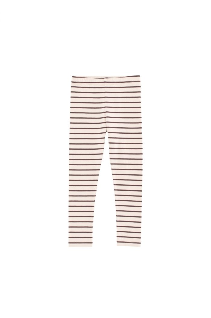 Tinycottons small stripes pants Nude / Plum