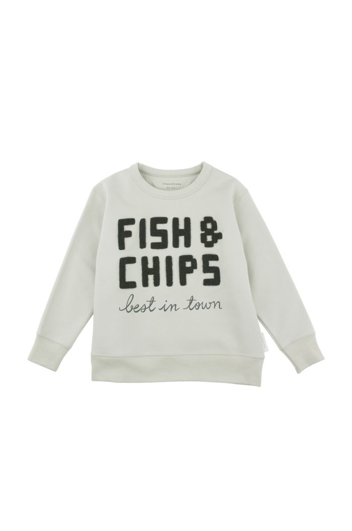 Tinycottons fish & chips graphic sweatshirt Pistacho / Dark Green